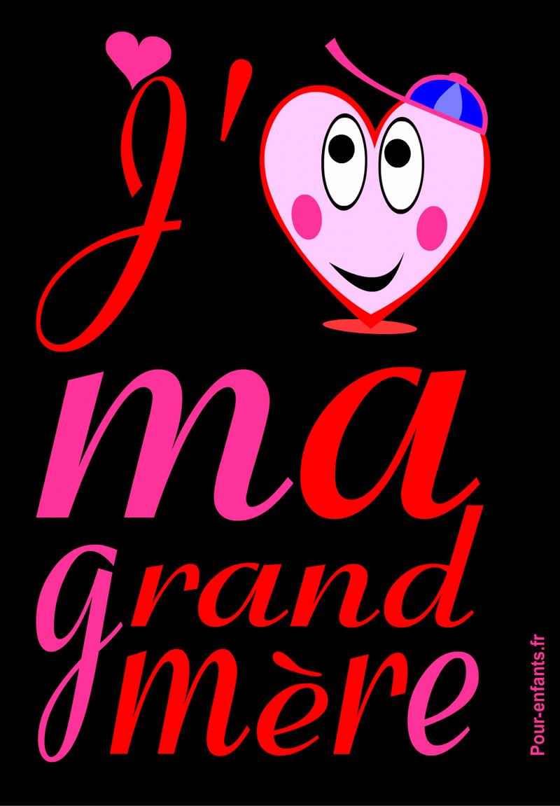 F te des grands m res dessin imprimer grand m re mamie amour - Dessin pour fete des grand mere ...