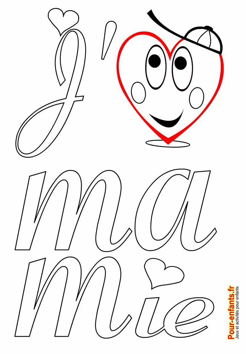 Fête Des Mamies Grands Mères Coloriage à Imprimer Amour De