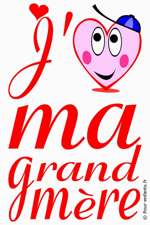 Fete Des Grands Meres Dessin A Imprimer Amour De Grand Mere Love