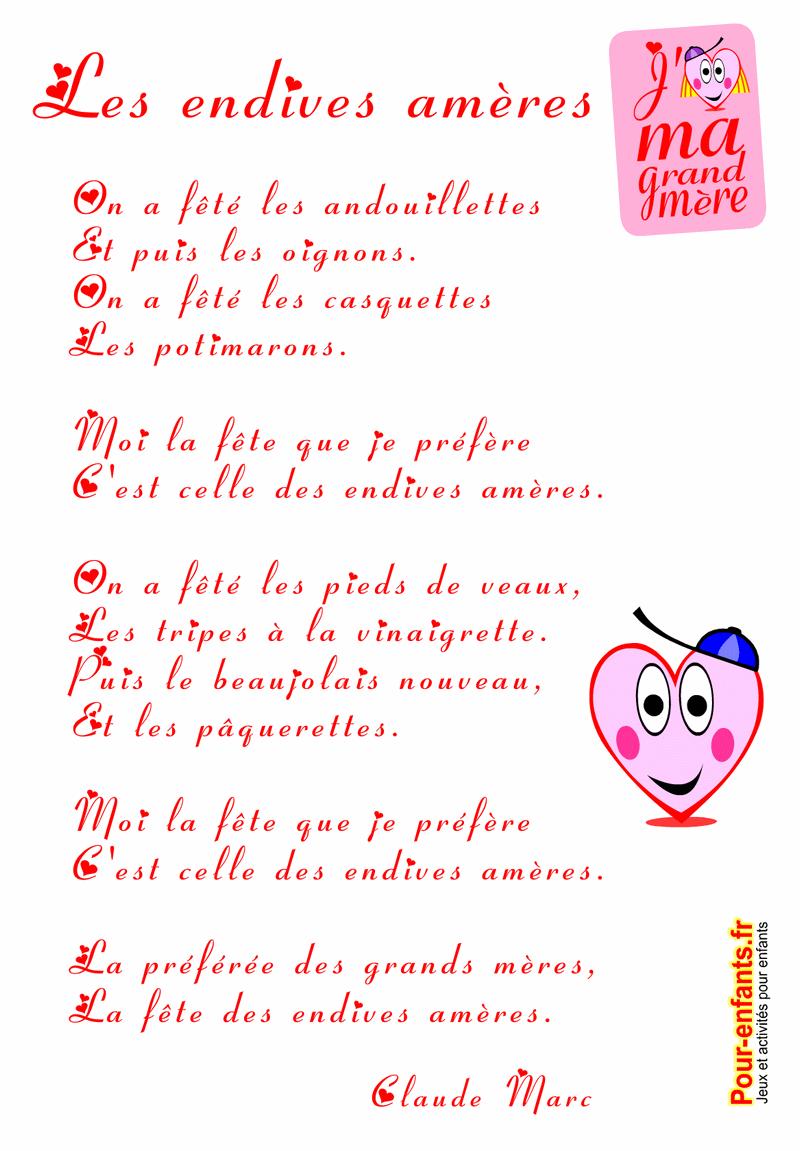 Poème à Imprimer Fête Des Grands Mères Poèmes Mamie Grand